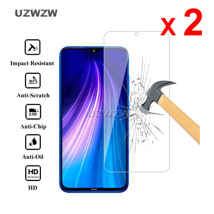 2pcs For Xiaomi Redmi Note 8 / Redmi Note 8 Pro Tempered Glass Screen Protector For Xiaomi Redmi Note 8 Pro Protective Glass