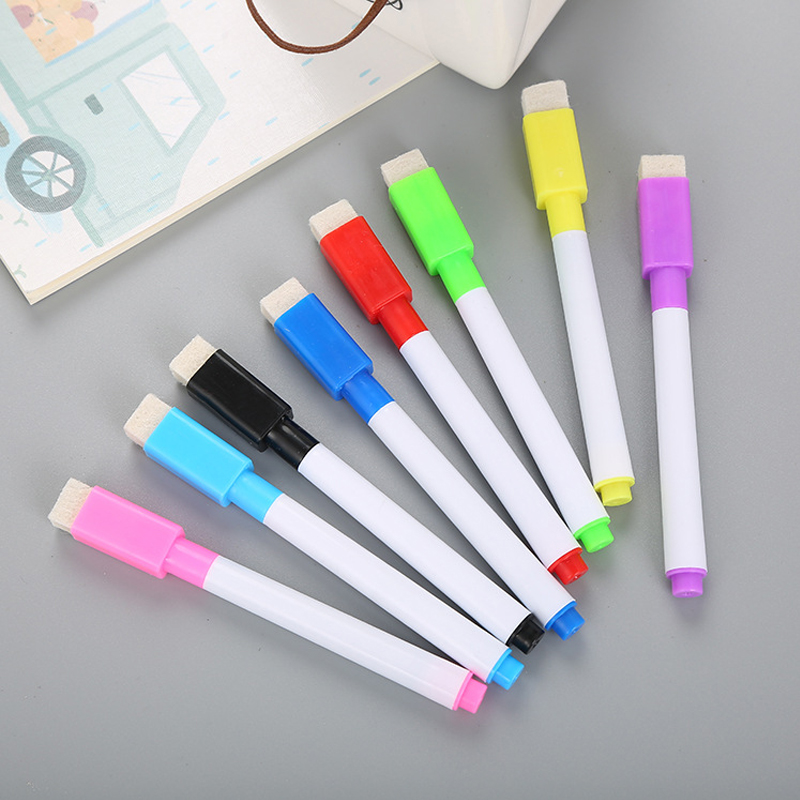 8PCS/Set Brand New Whiteboard Pen Erasable Dry White Board Markers For Office School Supplies