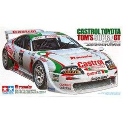 1/24 Castrol Toyota Tom Supra GT voiture assemblage voiture modèle Kits de construction passe-temps course voiture Collection bricolage Tamiya 24163
