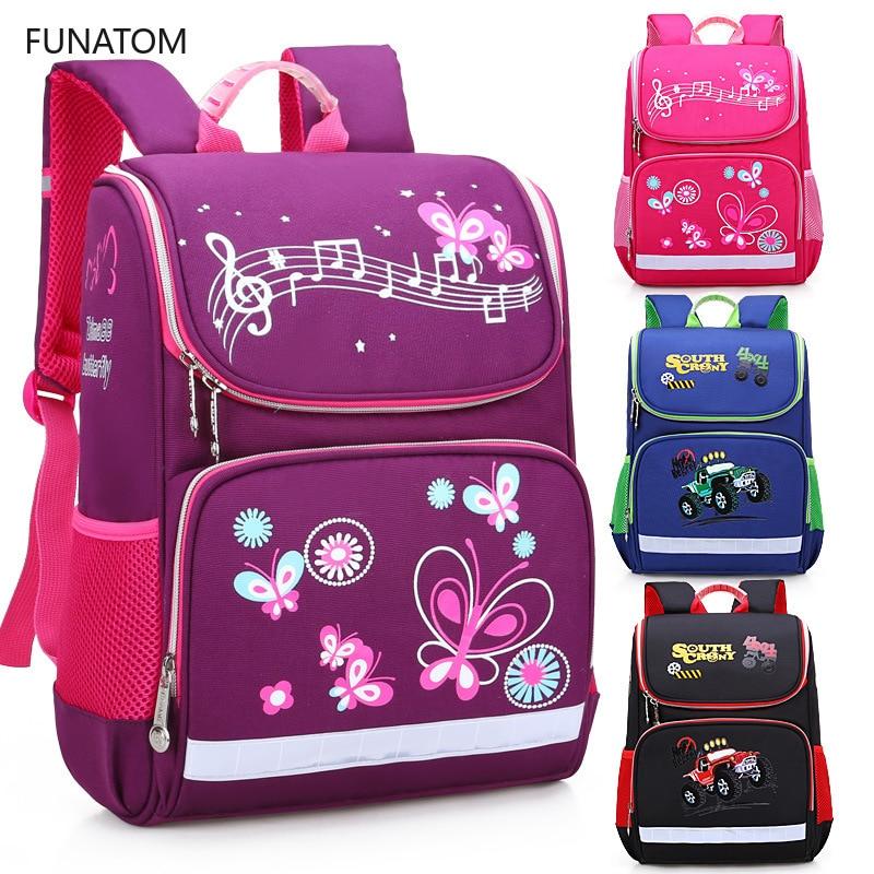 Butterfly School Orthopedic Backpacks With Reflective Strip School Bags For Girls Children Kids Backpack Bag Mochila Escolar