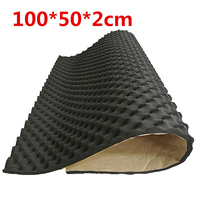 1pc 100*50*2cm Closed Cell Foam Car Sound Deadener Insulation Noise Proofing Black Foam|Sound & Heat Insulation Cotton| |  -