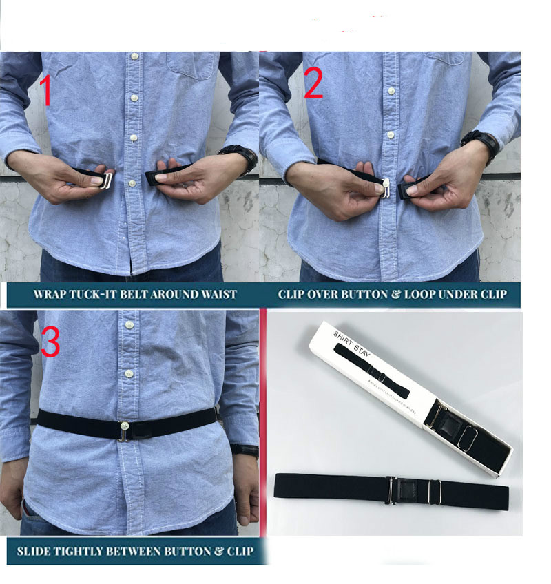 Easy Near Shirt Stay Men Braces Women Belt Tuck Shirt Holders Non-slip Wrinkle-Proof Shirt Holder Straps Locking Belt Suspenders