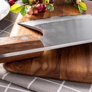 Image 4 - Couteau à os à hacher robuste, ustensile de cuisine 6.5 pouces, couteaux de boucher manche en bois acier inoxydable 5CR15