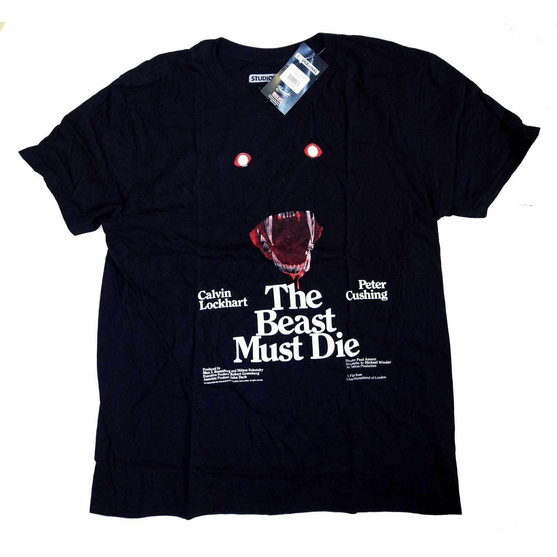 A besta deve morrer t camisa clássico uk horror camisa 100 oficial