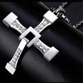 Ожерелье с подвеской в виде креста форсаж, мужское ожерелье из нержавеющей стали