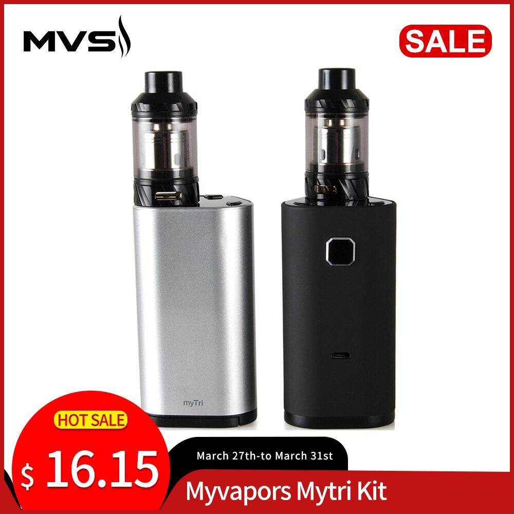 Russian In Stock !Original MyVapors MyTri Kit With KAGE Atomizer 300W Mod Box Support VW/TC-NI/TC-TI/TC-SS/TCR E-cigs Vape Kit