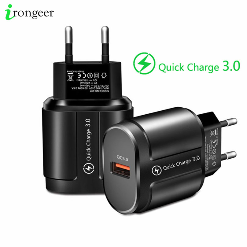 Quick Charge 3.0 USB Charger for iPhone XR 11 Pro QC4.0 Fast Charging Adapter for Huawei Mate 30 Mobile Phone Charger EU/US Plug