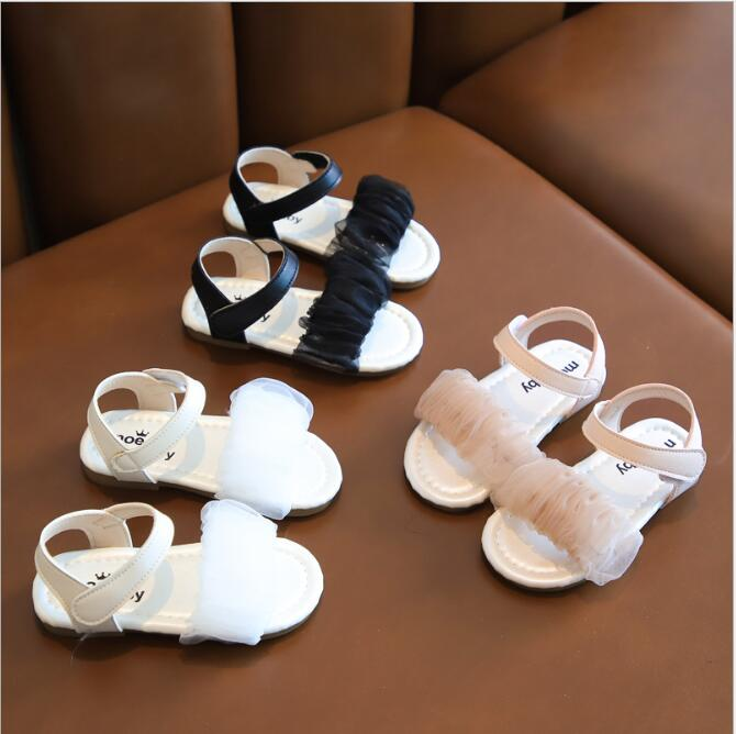 2020 New Summer Style Girls Sandals Children Toddler Kids Girls Beach Sandals Cute Bow Girls Princess Shoes 1-8 Years Sneakers