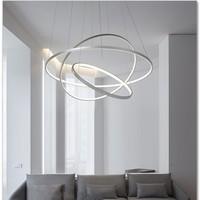 LED Decke Anhänger Lampen Moderne für Home Wohnzimmer Esszimmer Küche Weiß Schwarz Runde Ring Schlafzimmer Kronleuchter Innen Beleuchtung