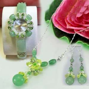 Bracelet Watch Jade Natural Real-Jewelry-Supplies Wholesale Original Suit Earrings Necklaces