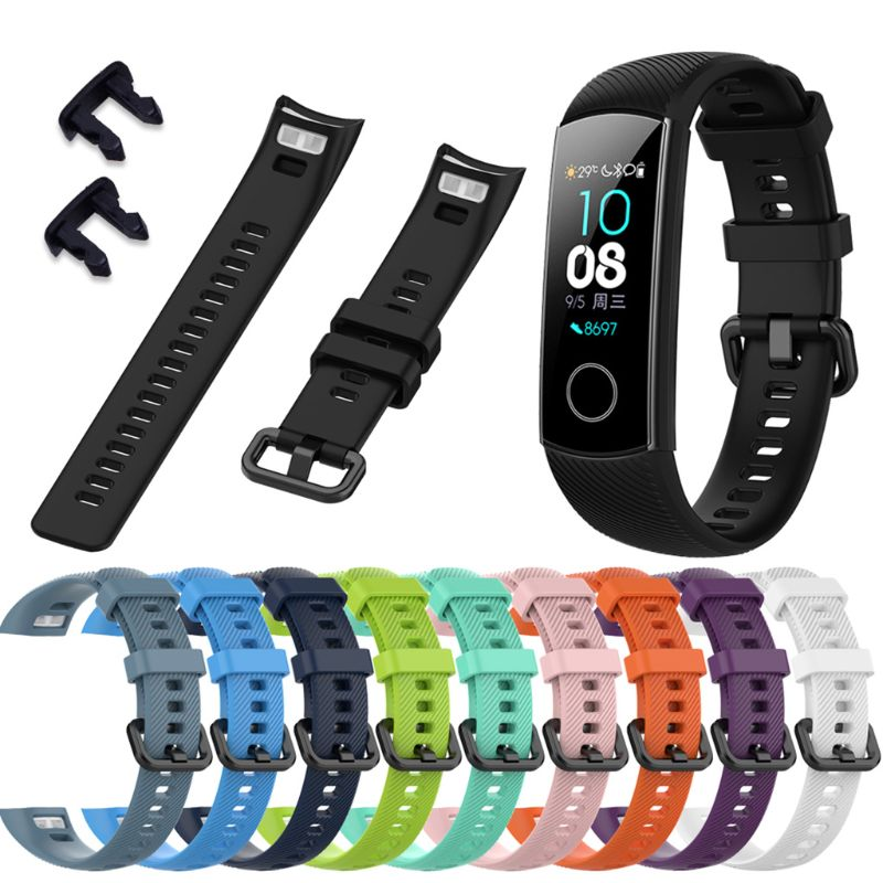 Anti-scratch Soft Silicone Watch Band Sports Wrist Strap Replacement For Huawei Honor 5 Sports Bracelet Accessories
