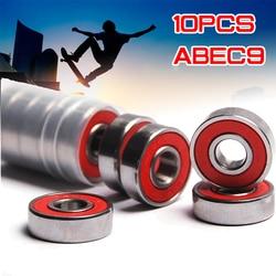 10x ABEC-9 608 2RS Inline Roller Skate Wheel Bearing Red Sealed 8x22x7mm Shaft Bearing Anti-rust Skateboard Wheel Miniature Tool