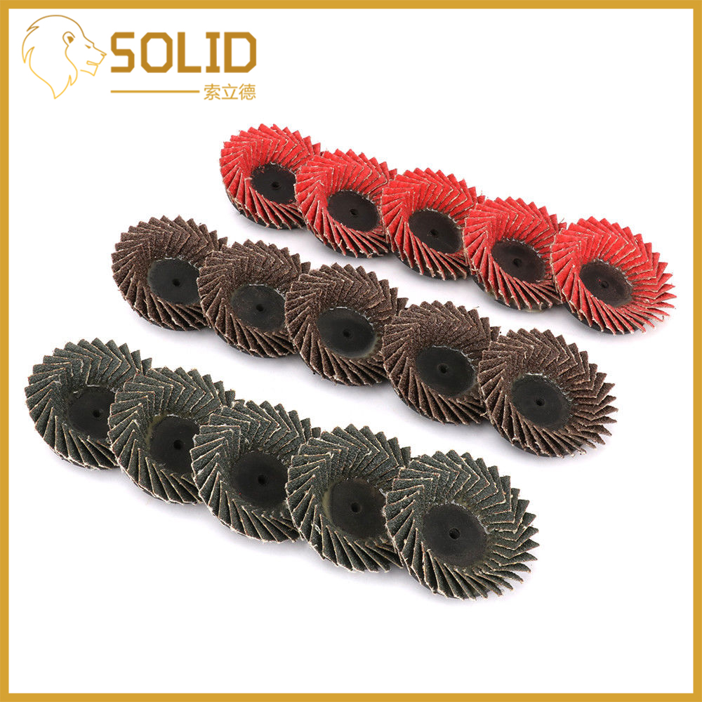 Type R Roloc Wheel 55mm Sanding Discs Grinding Wheels Blades Plastic Cap For Angle Grinder 2Inch 1Pc Vertical Abrasive 15Pcs/Set
