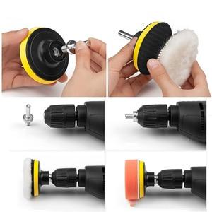Image 5 - 31pcs Car 3 Inch Buffing Pads Foam Polishing Pad Polisher + m10 Drill Adapter Buffer Pads Waxing Detailing Paint Cleaning Tool
