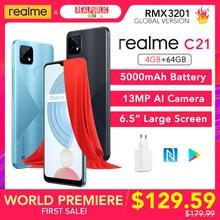 [Wereldpremière!] realme C21 4Gb 64Gb Global Versie Nfc 5000Mah Batterij 6.5