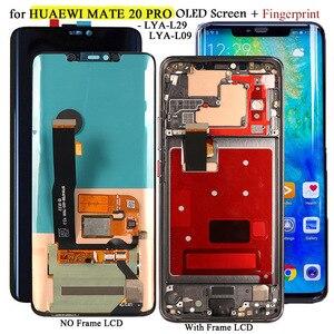 OLED-экран для Huawei Mate 20 Pro LYA-L29/L09 оригинальный Дисплей 10 дюймов сенсорный экран Замена для Mate 20 RS OLED + отпечаток пальца