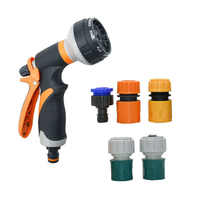 Adjustable Spray Lawn Watering Multi-function Car Wash High Pressure Nozzle Water irrigation Garden Kit for 1/2 3/4 hose