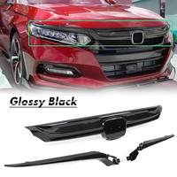 Front Grille Glossy Black Grille Cover Replacement Base Moulding Trim For Honda For Accord Sedan 10th Gen 2018 2019