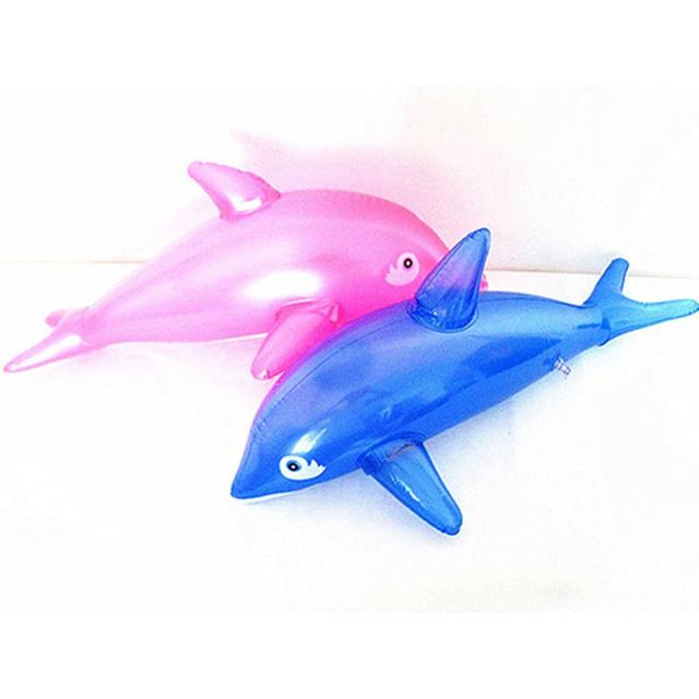 Lovely 50cm Inflatable Dolphin Fish Beach Swimming Pool Party Children Toy Kids Gift For Party Birthday Beach Deco Random Color