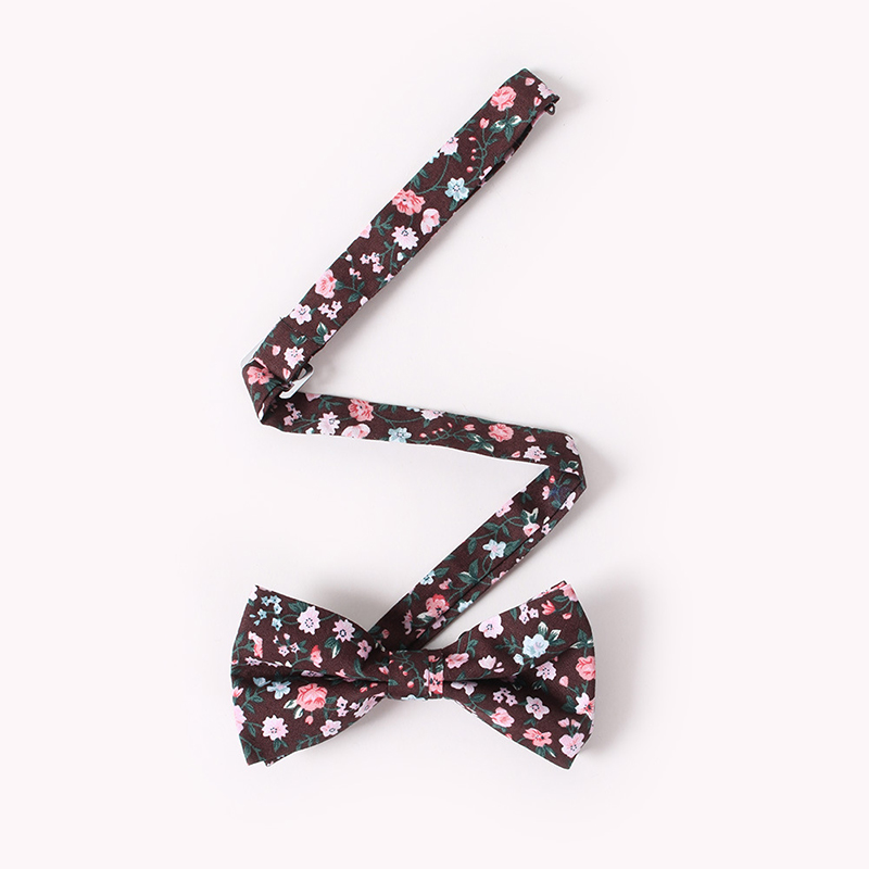 2019 винтажный цветочный принт галстук-бабочка для мужчин Жених Свадебная вечеринка Gravata Тонкий цветочный галстук-бабочка для худой шеи