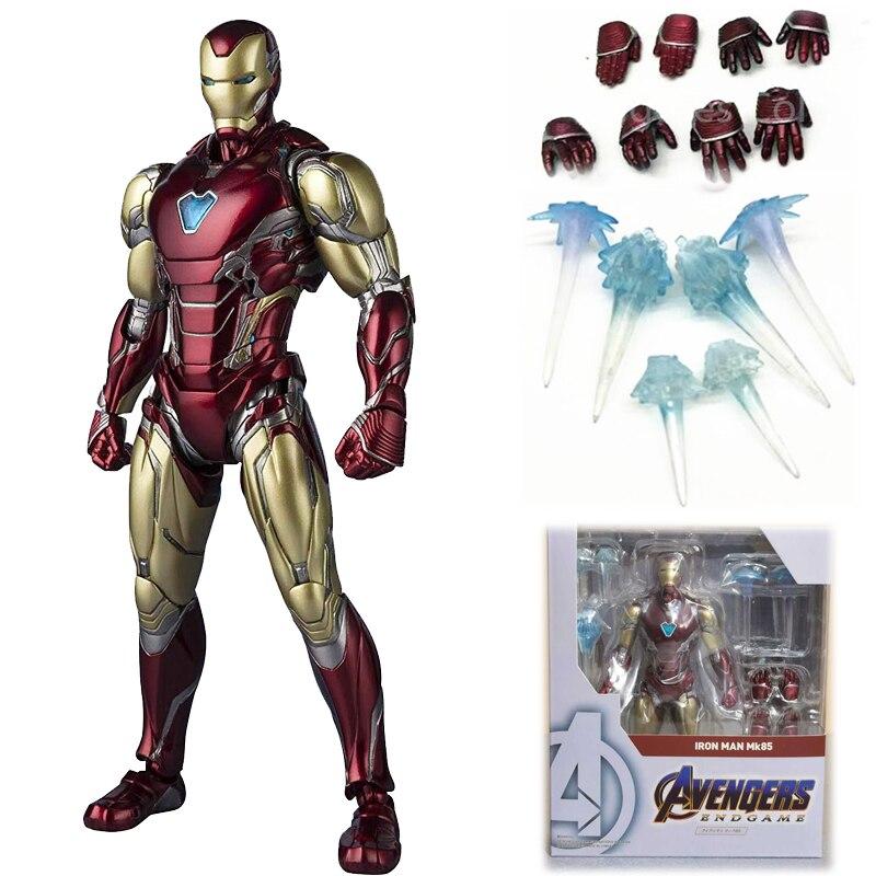 SHF Avengers 4 Endgame Iron Man MK85 Action Figure Model Toys Doll For Gift