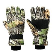 Уличные охотничьи перчатки для мужчин и женщин, зимние камуфляжные перчатки для катания на лыжах, кемпинга, охоты, пеших прогулок