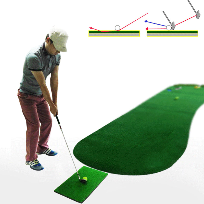 Golf Practice Mat Swing Hitting Mat Driving Pad Indoor Training Aids Green FOU99
