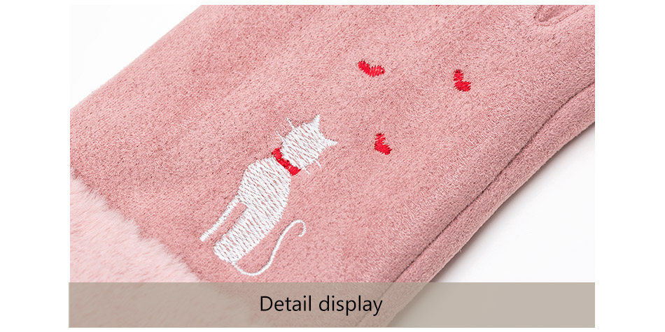 Winter Women Touch Screen Gloves with Embroidery made with a Special Conductive Fabric into Finger Tips for fast Navigation of All Touch Screen Device 7