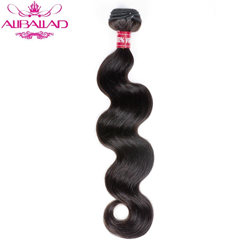 Aliballad Brazilian Hair Weave Bundles Body Wave 8 To 28 Inch 1PC Remy Hair Extensions Natural Color 100% Human Hair Bundles