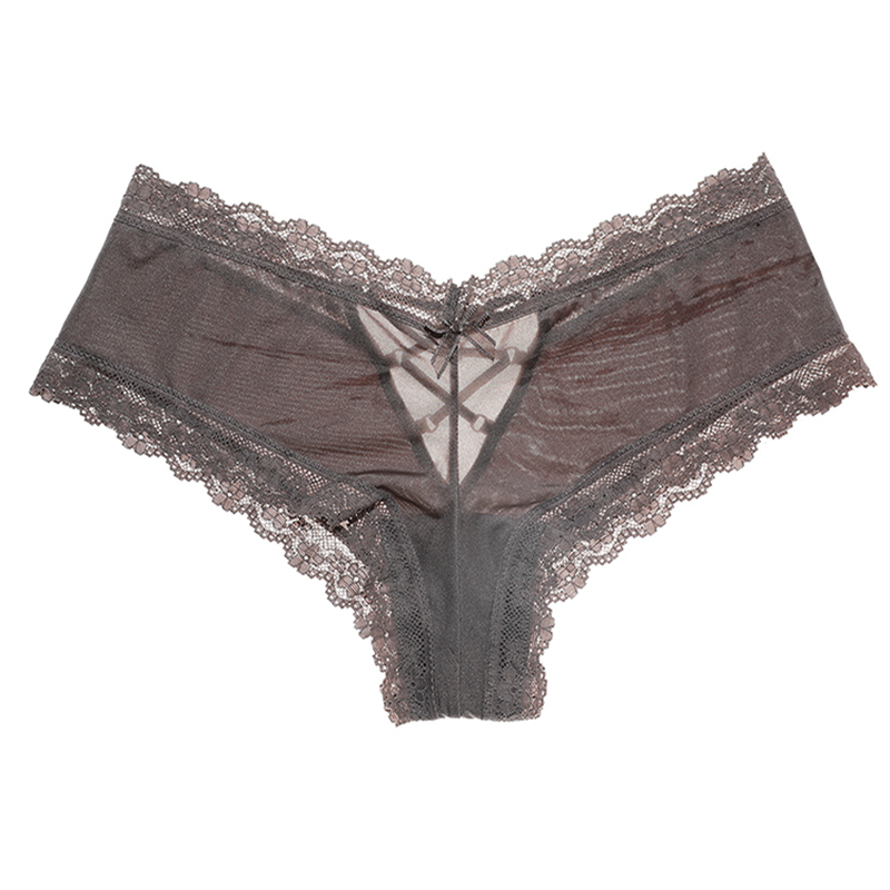 Seamless Underwear Back-Bandage Panties Women Satin Crotch Sexy Lace Breifs City-Fashion