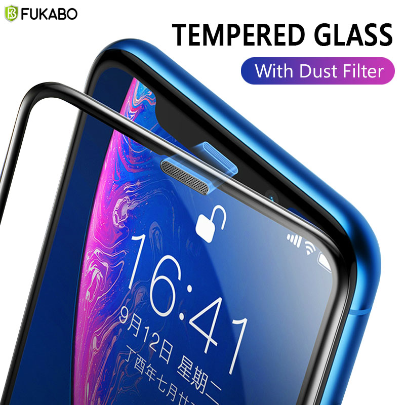 Закаленное стекло для iPhone 11 Pro, 7, 8 Plus, XS Max, XR, Защита экрана для iPhone 6 Plus, SE 2020, Защитная пленка для динамика, Пылезащитная сетка
