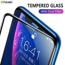 Szkło hartowane dla iPhone 11 Pro 7 8 Plus XS Max XR ochraniacz ekranu dla iPhone 6 Plus SE 2020 Film pokrywa głośnik pyłoszczelna siatka