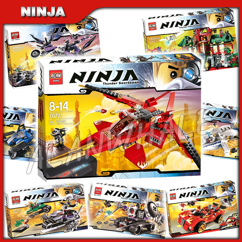 8types 2014 Ninja Theme Evil OverLord Battle City Mech Dragon Charger Model Building Block Children Toy Compatible With Lago