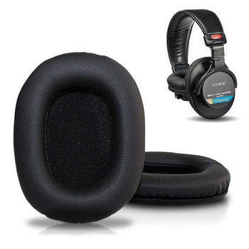 Leather Replacement Ear Pads For Sony MDR-V6/MDR-7506/MDR-CD900ST Memory Foam Ear Cover Headphones Ew# ear pads for sony mdr zx770bn mdr zx770ap mdr zx770bn zx770ap headphone earpads replacement headset ear pad pu leather