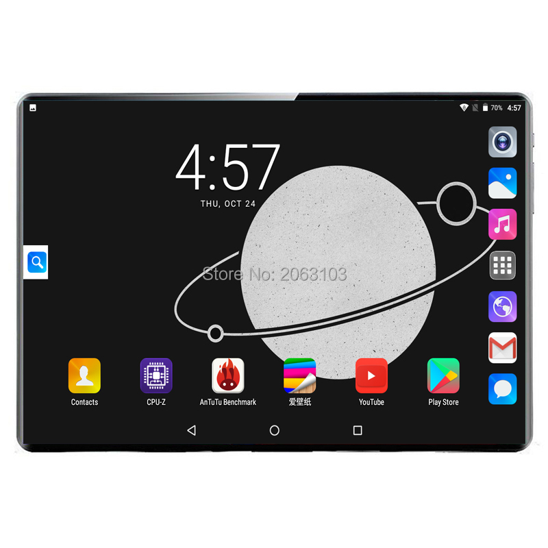 Super Tablet 128G Global Bluetooth Wifi Version Android 9.0 10 Inch Tablet 10 Core 8GB RAM 64GB 128GB ROM 2.5D Screen Tablets