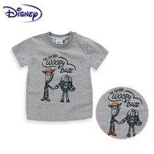 Disney/детская одежда; футболка для маленьких мальчиков с героями мультфильмов; детская футболка с короткими рукавами с принтом «История игрушек» и «Базз Лайтер»