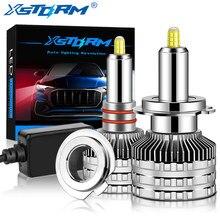 2 Pièces H1 Led H7 LED 20000LM H8 H11 9005 HB3 9006 HB4 Phare Ampoule Canbus 9012 HIR2 80W 360 Degré 3D CSP Lumières De Voiture Turbo Lampe