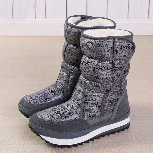 Women winter boots platform non slip waterproof winter shoes women ankle boots thick fur warm women snow boots for  40 degrees