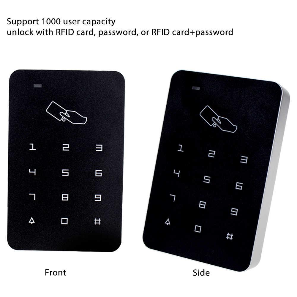 RFID 125 Khz Bàn Phím Điều Khiển Truy Cập Hệ Thống Chống Nước Ngoài Trời Chống Thấm Đi Mưa Bao Da Bàn Phím Số Bộ Điều Khiển Đầu Đọc Thẻ 10 Phím