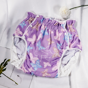 Free Shipping  FUUBUU2215-Purple Butterfly-XXL Snow White Adult Diaper/ Incontinence Pants/ Diaper Changing Mat/Adult Baby