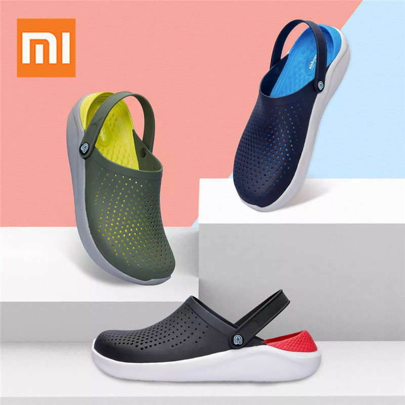 Original XIAOMI 2 In 1 Aishoes Summer Beach Cave Shoes Breathable Comfortable Aishoes Sandals Hydrophobic Men Sandals Slippers tote bag