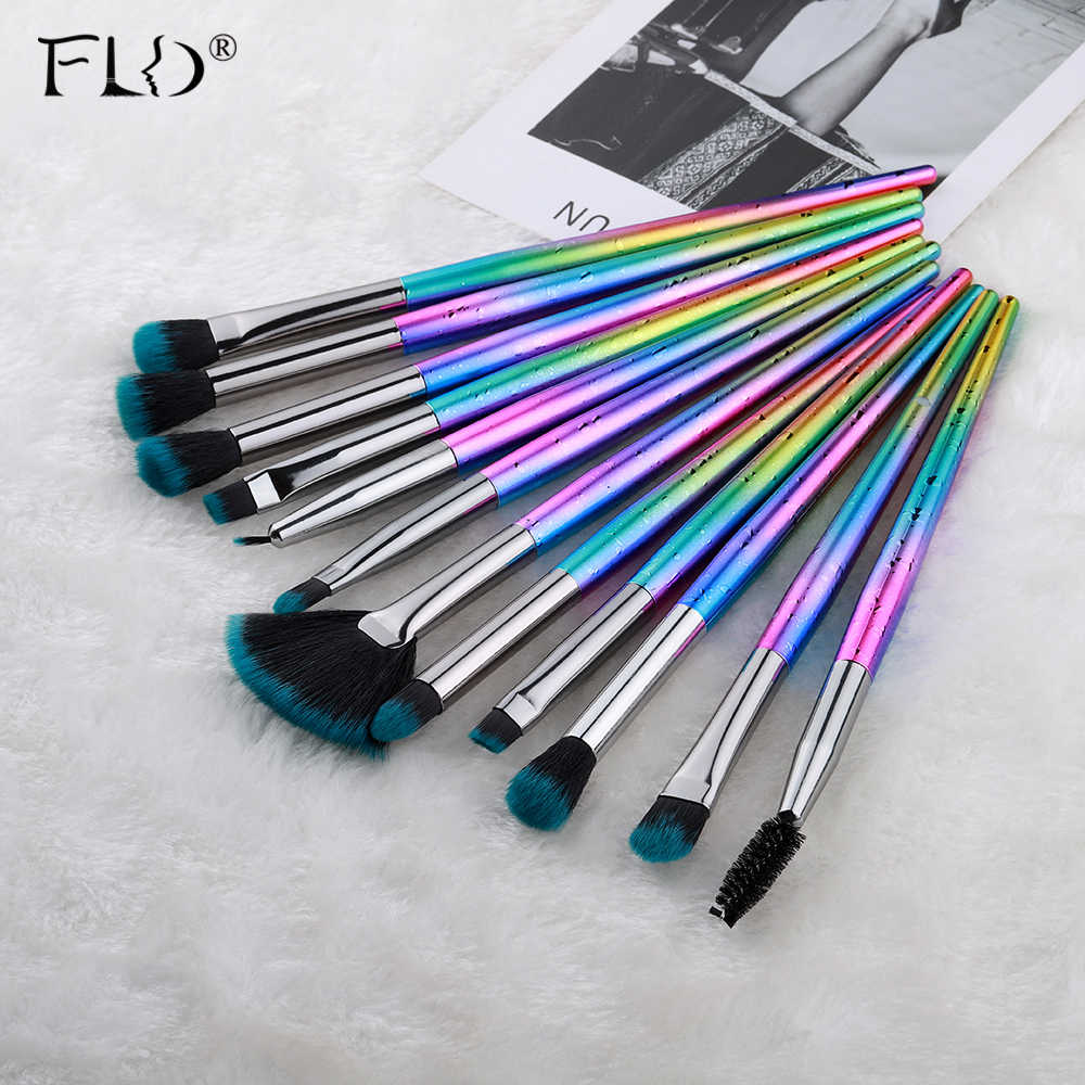 Field Makeup Brush Set 12 Pcs Profesional Mata Eyeliner Set Kuas Bulu Mata Alis Maskara Sikat Set Alat Kit Baru