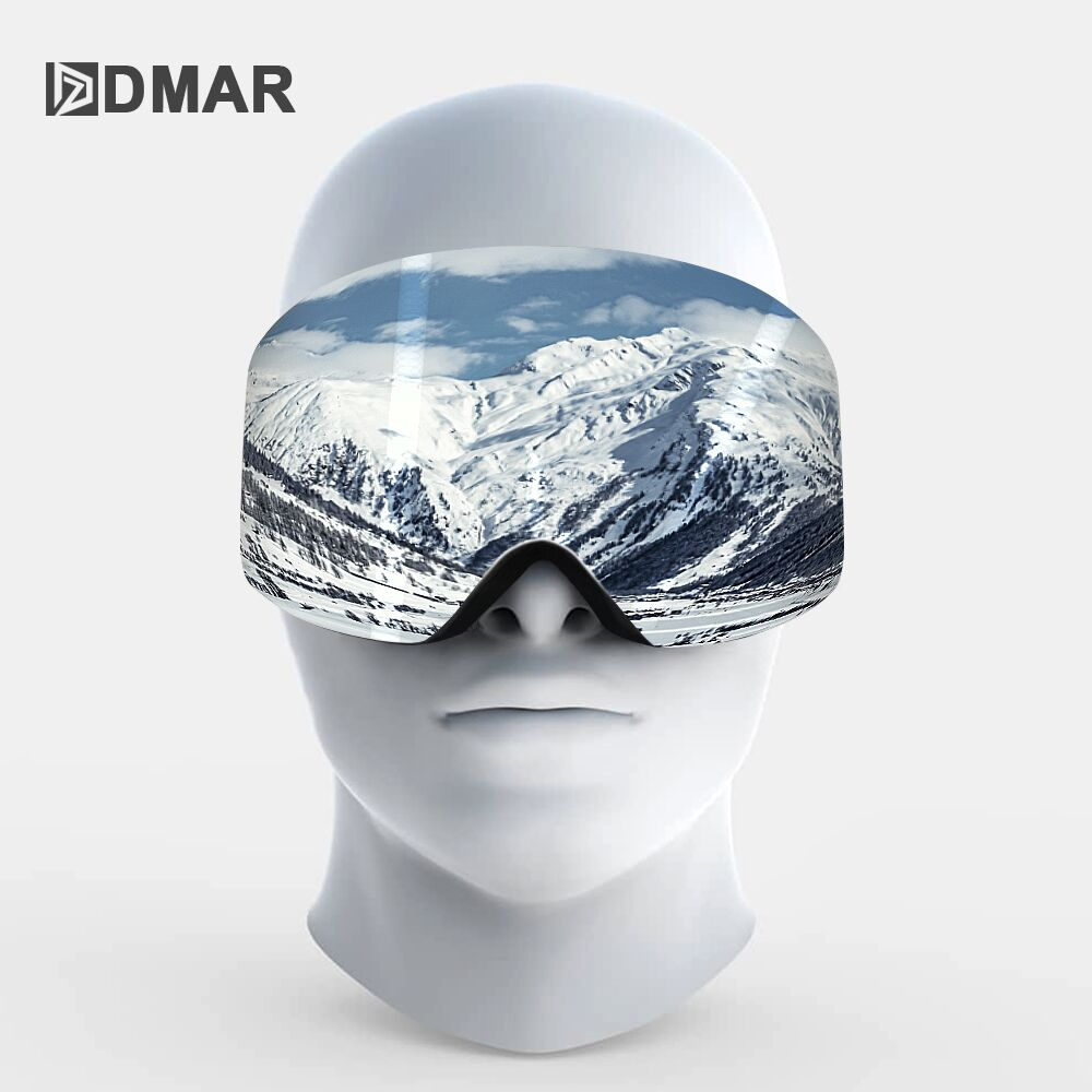 Ski Goggles UV400 Plus Double Layers Anti-fog Protection Keep Warm Big Lenses Glasses Men Women Snowboard Goggles Skating