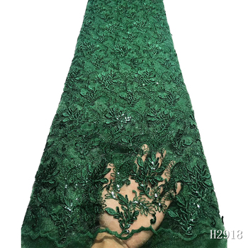 African Lace Fabric 2019 High Quality lace Embroidered Green French Lace Fabric Nigerian Water Soluble Cord Lace For Wedding фото