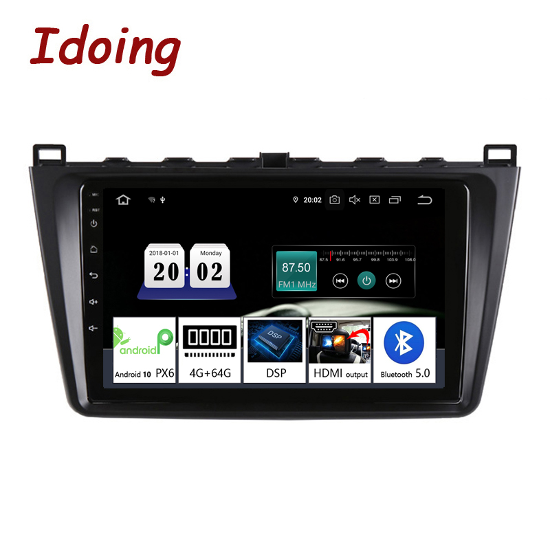 Idoing 92.5D Android 10 For Mazda6 2007-2012 Car Radio Multimedia Video Player Navigation GPS Accessories Sedan No DVD 2 Din image
