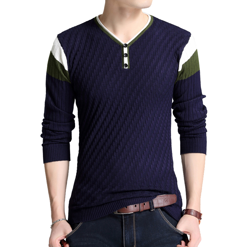 TFETTERS Brand-sweater Autumn Men's Long Sleeve Slim Fit Sweaters Men Elastic Knitted T-Shirt Knitted Loose Sweater Pullover Men