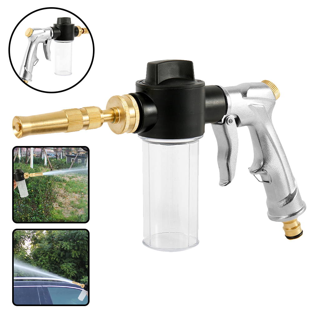 Car Wash Gun Auto Water Foam Cleaning Guns Alloy High Pressure Guns Home Garden Wash Foam Gun Truck Cleaning Nozzle Spray