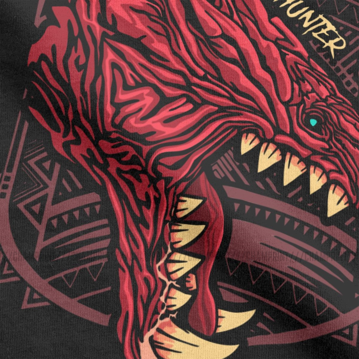 Odogaron Monster Hunter World T Shirts Men S Cotton Leisure T