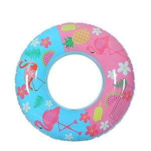Inflable de los niños flotante Flamingo piscina círculo 70cm 90cm adulto piscina flotadores de goma anillo de Donut nadar tubo chico juguetes de piscina