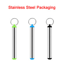304 Food Grade Stainless Steel Packing with Keyring for Straws Easy Carrying stainless steel sign grade 304 with brushed finish mounted with mounting spacers
